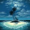 Island under the moon