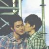 Eunhyuk and Siwon Kiss