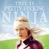 cara's pretty fucking ninja