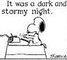 dark and stormy.