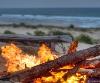 beach, bonfire