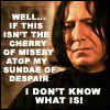 harry potter ~ snape's sundae of dispair