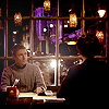 Sherlock and John in a restaurant