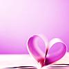 random » book heart