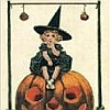 witch (girl on pumpkin)