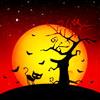halloween tree and kitty