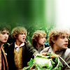 four hobbits by slightly tookish