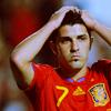 david villa - frustrated