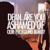the female ghost of tom joad: supernatural dean/cas THEY HAVE A BOND