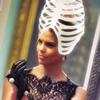 rib cage hat black lace dress
