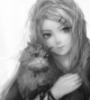 девушка, кошка