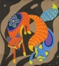 floral fox, yin/yang, complimentary