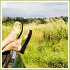 other: green sandals green field