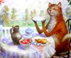 чаепитие кота