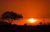 Afrique soleil couchant - voyages