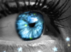 oeil bleu - écrits