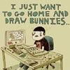 draw bunnies..