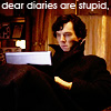 Sherlock: dear diaries are stupid