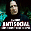 HP - Snape is not antisocial