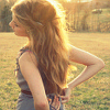 Outside: sun in hair