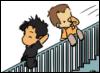 Merlin Pendragon: sga - rampe escalier (chibis)