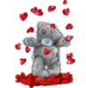 teddy hearts