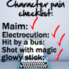 NaNo Character checklist