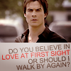 sassy, classy, and a bit smart-assy: TVD: Damon love first sight