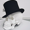 Samantha: Stock: top hat skull
