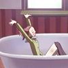 Hachi Bathtub YAY!