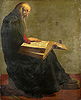 Saint Paul seated reading