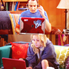 * geek - penny & sheldon - laptops