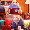 * geek - penny & sheldon - laptops