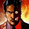 TWO-FACE ( Harvey Dent ): who seems a beast