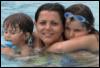 донька, вода, син, діти, мама