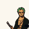Roronoa Zoro of the Strawhat Pirates: grouchy all the time always