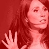 donna red monochrome