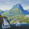 LotR - Swanboats and mountains