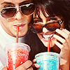 glee: finchel slushies