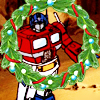 Christmas-OP G1 holding Xmas wreath