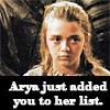 Arya's list - you're doomed