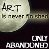 art is never finished