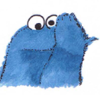 cookie monster: 'me gotta be blue'