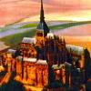 Замок коричневый