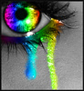 rainbow, eye, cry, tear, tears