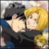 Roy/Edo hug