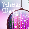 yuletide magic (purple & stars)