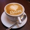 lijahlover: Coffee cup with Elijah and a heart