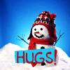 Holidays - Christmas - snowman - Hugs!