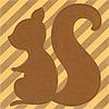 risu // stripes - brown - silhouette